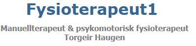 Manuellterapeut og psykomotoriker Torgeir Haugen